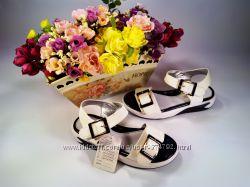 Босоножки для девочки Jong Golf размер 31-36 белые