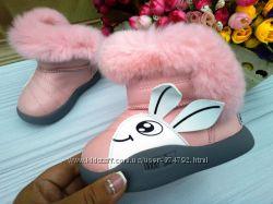 Угги для девочки розовые размер 24, 25 фирма Леопард
