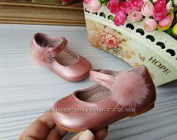 Туфли для девочки пудровые фирма doremi clibee р-р 19-24