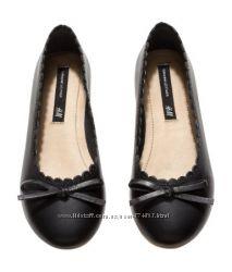 Кожаные туфельки  в наличии Н&М PREMIUM  27 размер