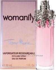 Thierru Mugler Womanity 30 ml reffilable spray оригинал