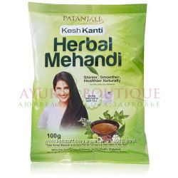 Хна Patanjali с добавлением лечебных трав 100г Патанджали