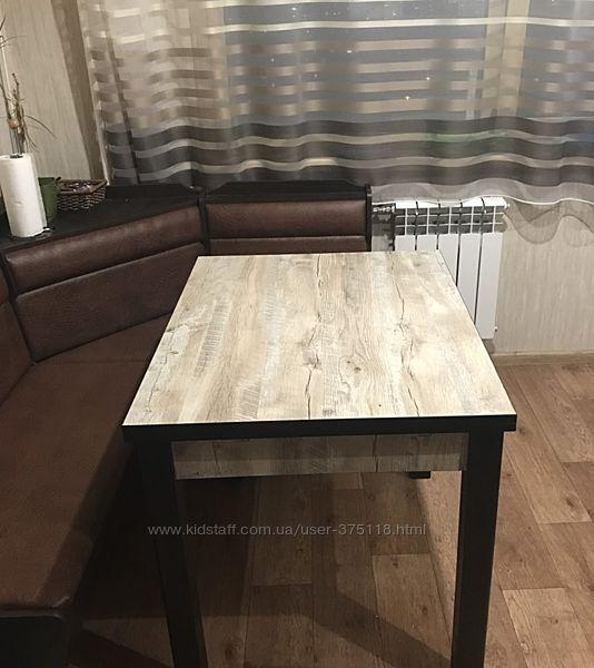 Кухонный раскладной стол 90-160х70см Марсель Клондайк