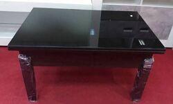 Стол трансформер Флай венге с черным стеклом