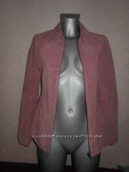 Замшевая розовая куртка Натуральная замша 36 XSS
