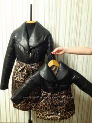курточки для девочки с лео принтом