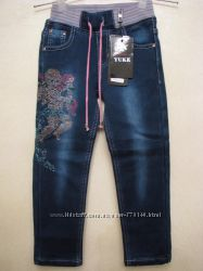 Шикарные джинсы на флисе от известного производителя Yuke