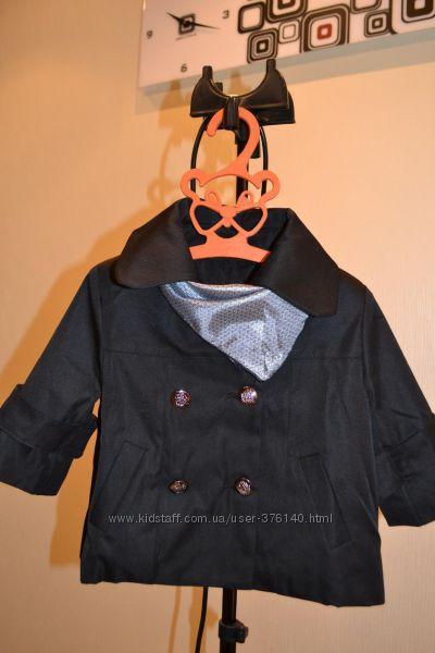 Стильный пиджачек - болеро - синий и черный