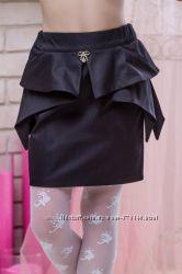 Необыкновенно красивые юбочки с баской синие и черные