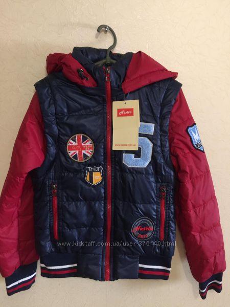 Стильные курточки - жилетки для мальчишек - разные модели