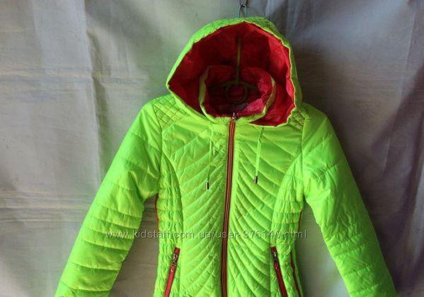 Неоновая демисезонная куртка - жилетка