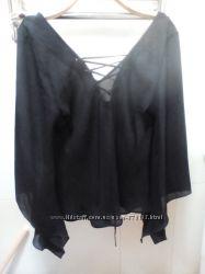 Блузка полупрозрачная с шнуровкой р. 4214