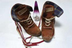 Ботинки с натуральной замши, 38 размер