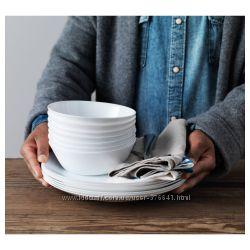 Очень красивые белые тарелки, разные виды. Производство Франции