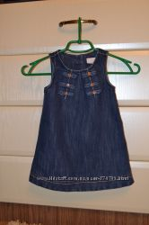 Платье-сарафан джинсовый Next. Рост 86 и 92.