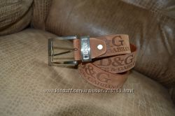 Ремень кожаный Dolge&Gabbana. Унисекс.