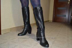 Брендовые кожаные сапоги итальянского бренда Vera Gomma. Размер 39