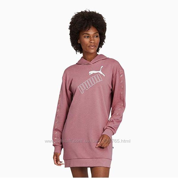 Спортивное тёплое платье с капюшоном Puma. Размер S