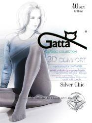 Колготки с серебренным эффектом Gatta - новинка