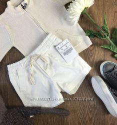 Легкие коттоновые шортики для младенца на мягком поясе-резинке