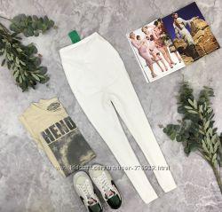 Укороченные лосины в белом цвете для будущей мамы  PN1850002