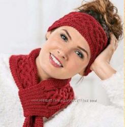 Оригинальная повязка на голову и шарф