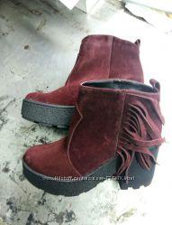 Ботинки Бахрома
