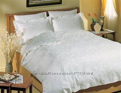 Изысканное белое постельное белье Satin ТАС,  Altinbasak,  Arya.