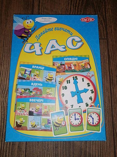 Настольная игра Tactic - Давайте вивчати час - укр. от 4 лет