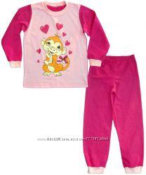 Пижама для девочки, утепленная, начес