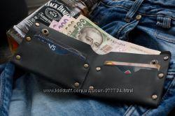 Мужской кожаный кошелек Гранж