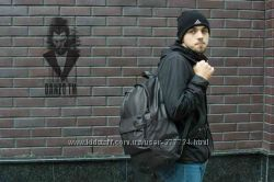 Рюкзак мужской кожаный PU городской черный Nike, S sport