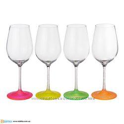 Бокалы для вина 350мл-4шт Bohemia Neon Ice