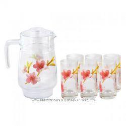 Набор для напитков 7пр Luminarc Water Color L2222