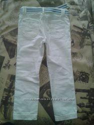Белые джинсы на девочку -110 рост 2 раза одеты