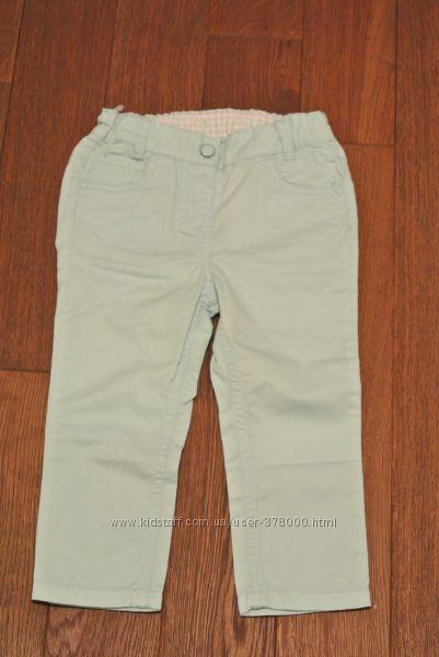 Красивенного цвета фирменные брюки на крупную девочку 2-3 лет