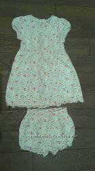 Очень красивое платье с трусиками LAURA ASHLEY на дев. 1, 5-3 года, в отл. сост