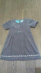 Очень нежное и красивое велюровое платье-сарафан NAME IT, р. 98, одето раз