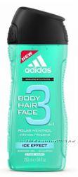 Гель для душа Adidas Ice Effect 3 в 1