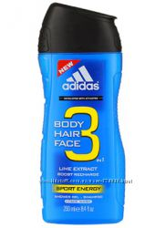 Гель для душа Adidas Men Energy 3in1