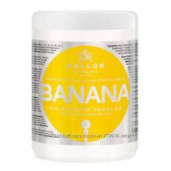 Маска для укрепления волос с экстрактом банана Kallos Banana