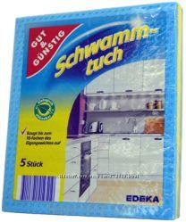 Сафетки губчатыя Gut & Gunstig Schwammtuch 5 штук