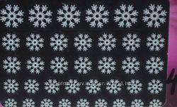 наклейки на ногти самоклейки снежинки