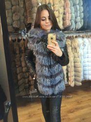 Куртка - трансформер из мехом чернобурки