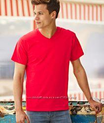 Мужские футболки с V-образным вырезом, 100 хлопок