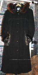 Шикарное зимнее пальто, 54р - смотрите замеры