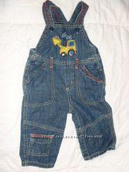 джинсики-комбинезон на мальчика 6-9 мес