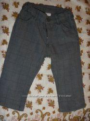 модные лёгкие штаны в клетку на модника 6-12 мес