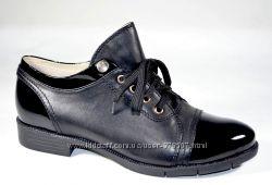 Туфли женские из натуральной кожи на шнуровке Magnori