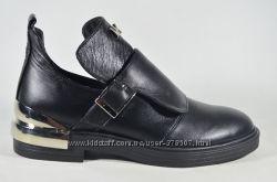Стильные кожаные туфли Sina